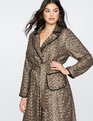 Long Sequin Trench Coat Gold / Totally Black