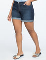 Cuffed Jean Shorts Medium Wash