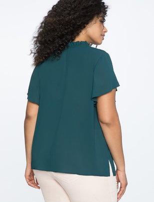 Gathered Neckline Top