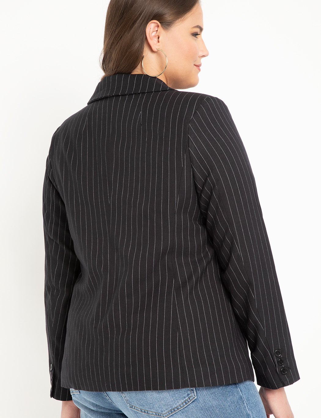 Double Breasted Pinstripe Blazer