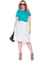 Studio Milan Crepe Skirt Off White