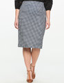 Neoprene Pencil Skirt Fresh Geometric