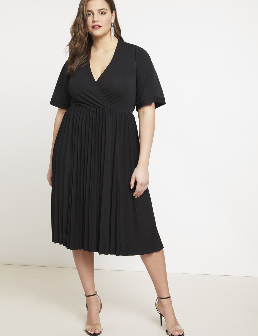 4c0294887f0 Cross Front Pleated Dress | Women's Plus Size Dresses | ELOQUII