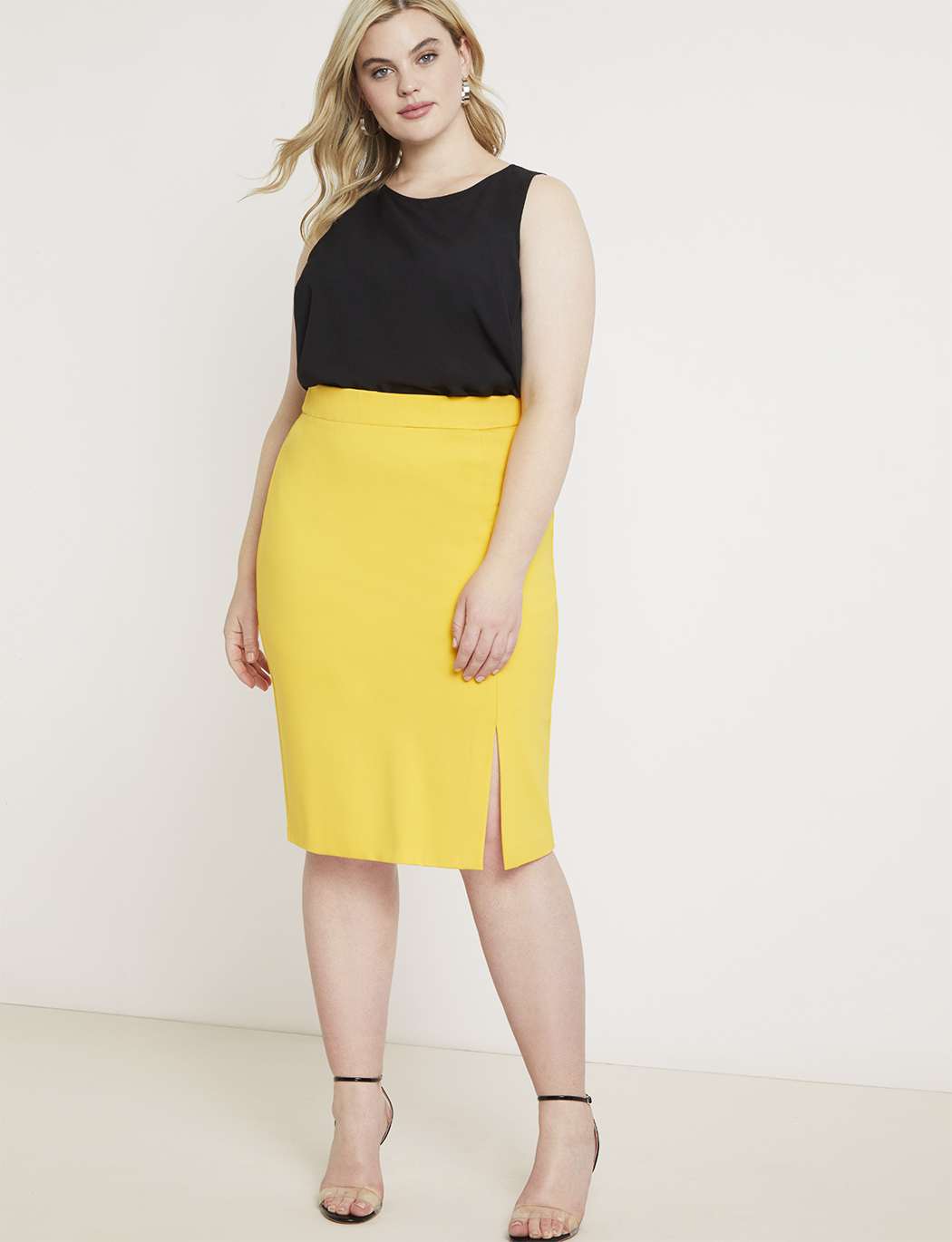 Sleeveless Asymmetric Panel Top