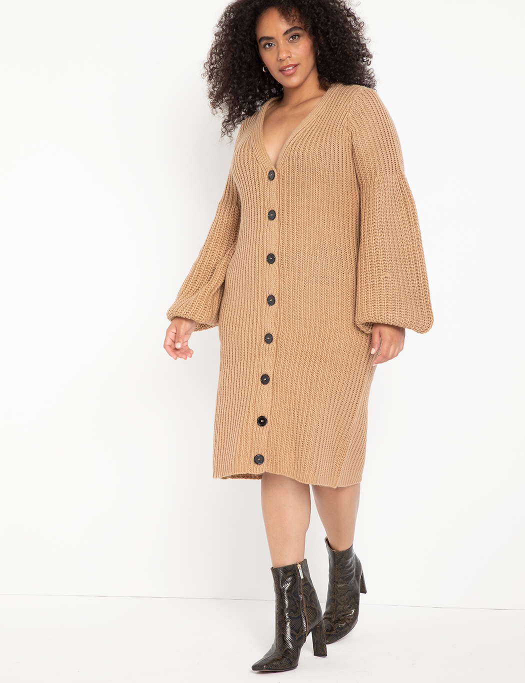 Cardigan Sweater Dress 4