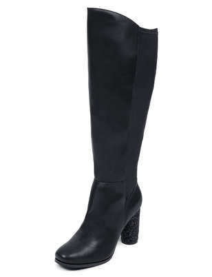 Knee High Cylinder Heel Boot