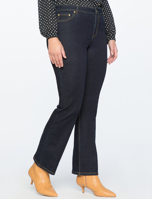 Draper James for ELOQUII Slim Flare Howdy Embroidered Jean