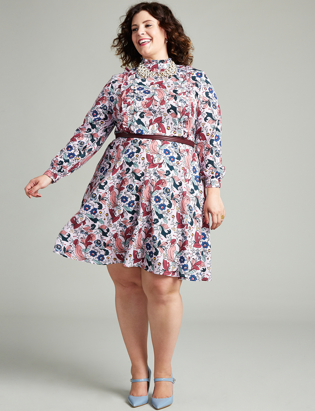 aabcd88f96e1 Ruffle Detail Fit And Flare Dress
