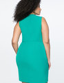 Cutout Neckline Mockneck Dress Evergreen
