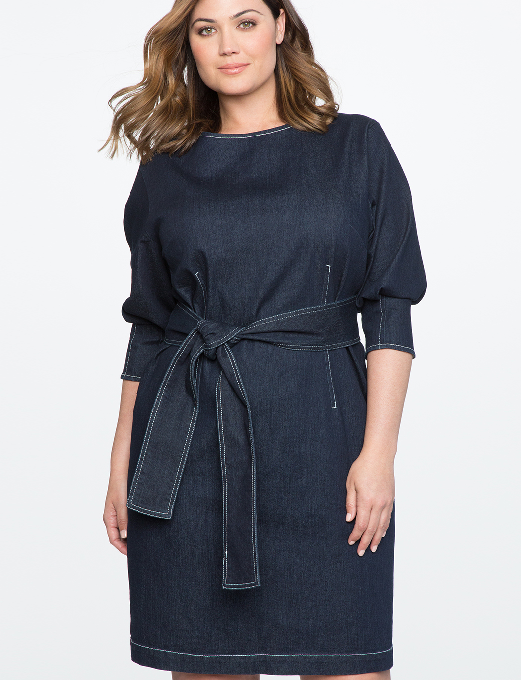 Dolman Sleeve Denim Dress | Women\'s Plus Size Dresses | ELOQUII