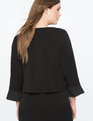 Pleated Cuff Crop Jacket Totally Black
