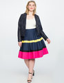 Colorblocked Pleated Skirt