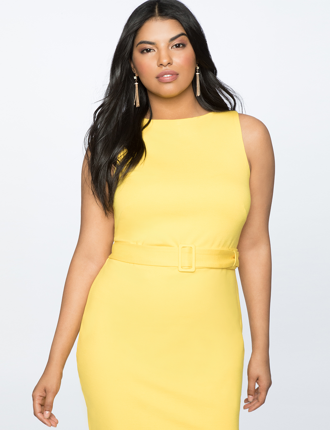 0712187e Belted Sheath Dress | Women's Plus Size Dresses | ELOQUII