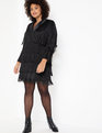 Fringe Blazer Dress Black