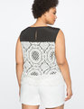Mixed Lace Shell Black / White
