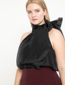 Sleeveless Bow Blouse Black