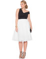 Studio Tulle Midi Skirt White