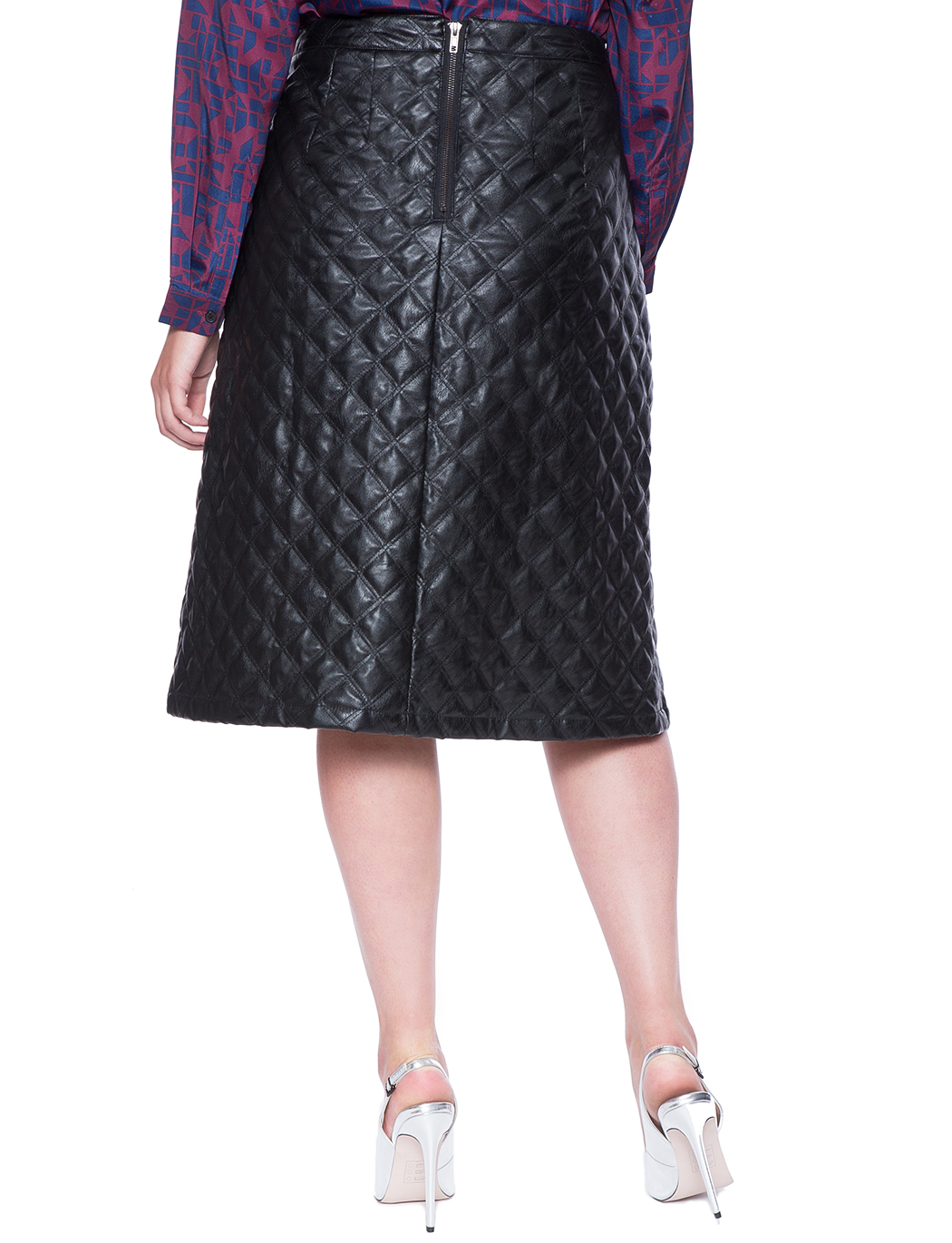 Studio Quilted A-Line Midi Skirt