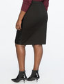Quilted Faux Leather Pencil Skirt Totally Black