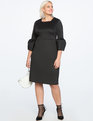 Bell Sleeve A-Line Dress Totally Black