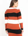 Striped Cardigan Sweater Dress Bold Stripe