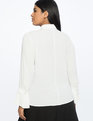 Pleated Cuff Shirt Soft White