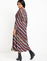 Button Front Maxi Dress Slashed through the Print