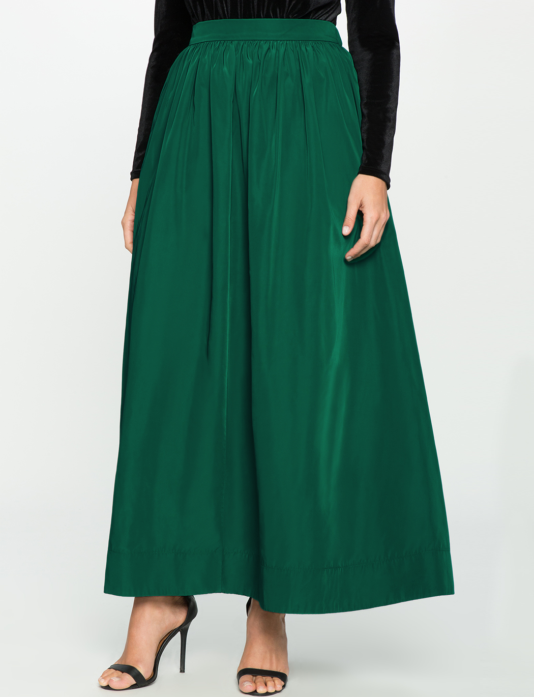 Taffeta Ball Gown Maxi Skirt | Women\'s Plus Size Skirts | ELOQUII