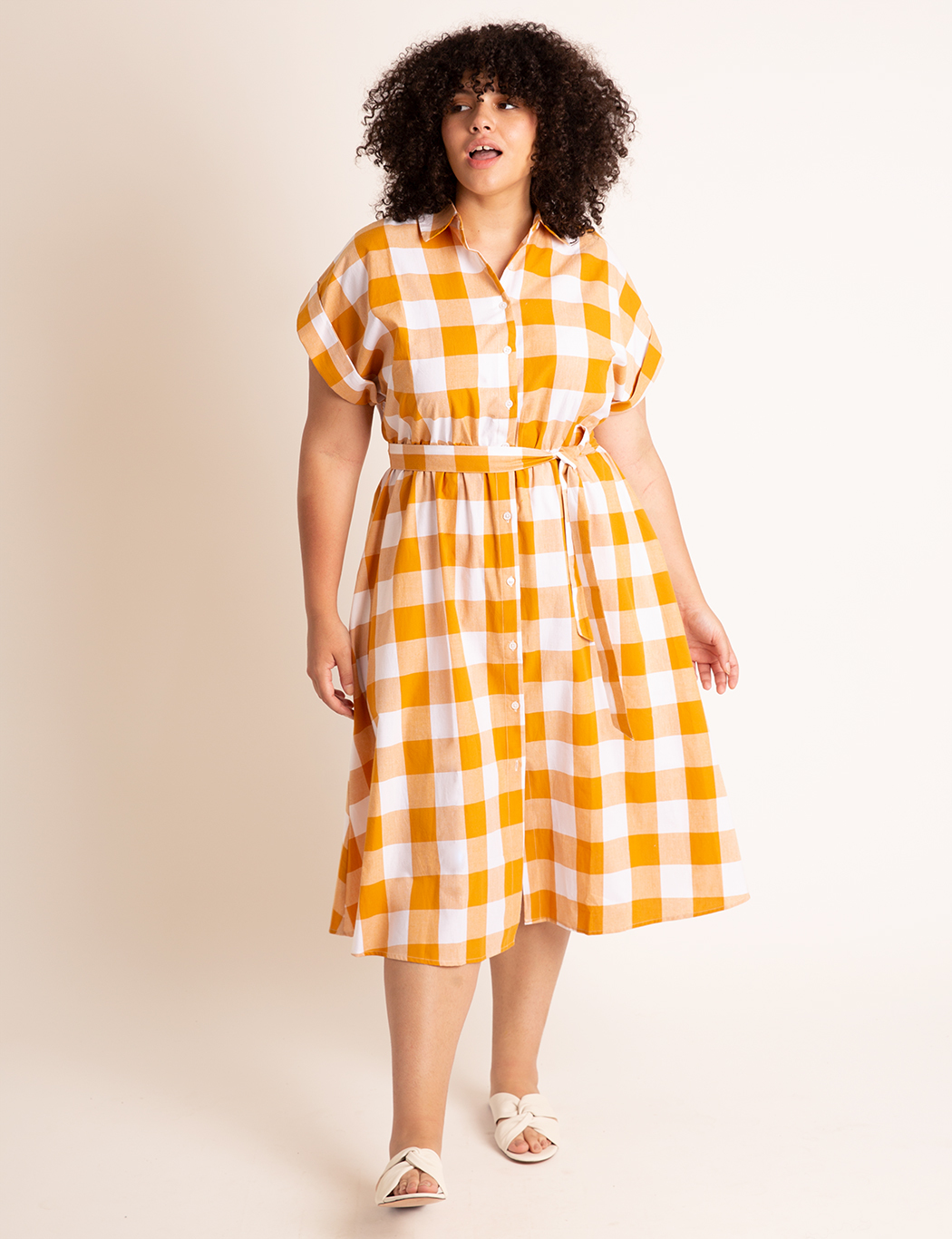 Midi Shirtdress With Wide Belt 19