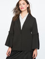 Flare Sleeve Blazer Totally Black
