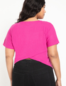 Cross Back Tee Fuchsia Pink