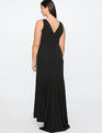 Deep V Gown Totally Black