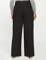 Zip Front Wide Leg Trouser Black