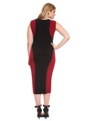 Studio Colorblocked Midi Dress Black/Red