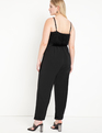 Textured Bodice Jumpsuit Black