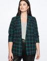 Double Breasted Blazer Green + Black