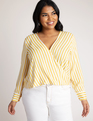 Crossover Top Yellow/White