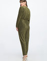Full Sleeve Metallic Jumpsuit Gold