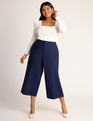 Crop Pant with Patch Pockets Navy