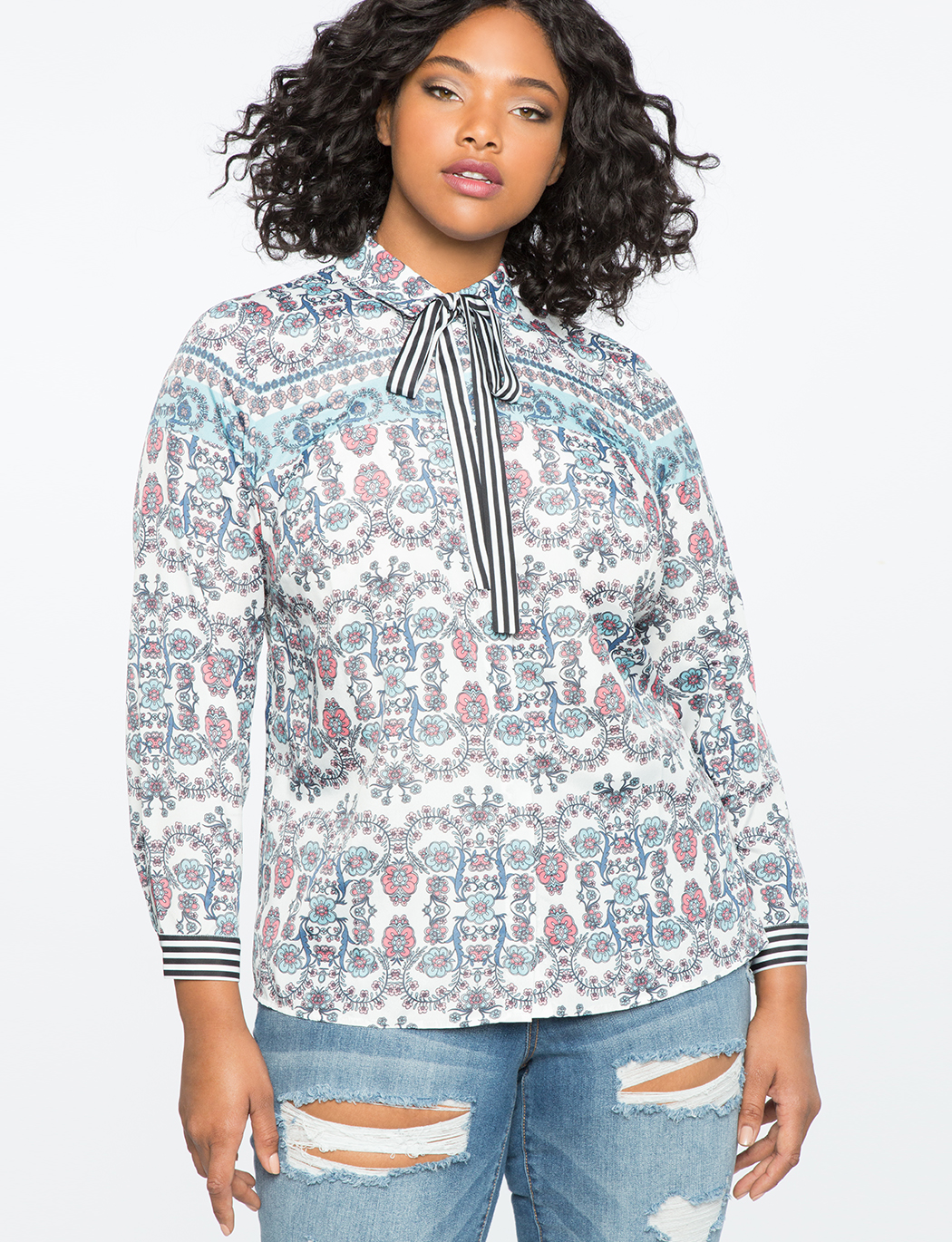 Conversational Print Blouse