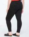 Distressed Knee-Slit Skinny Jeans Black