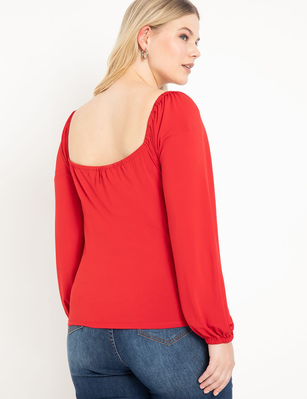 Sweetheart Top with Puff Sleeve
