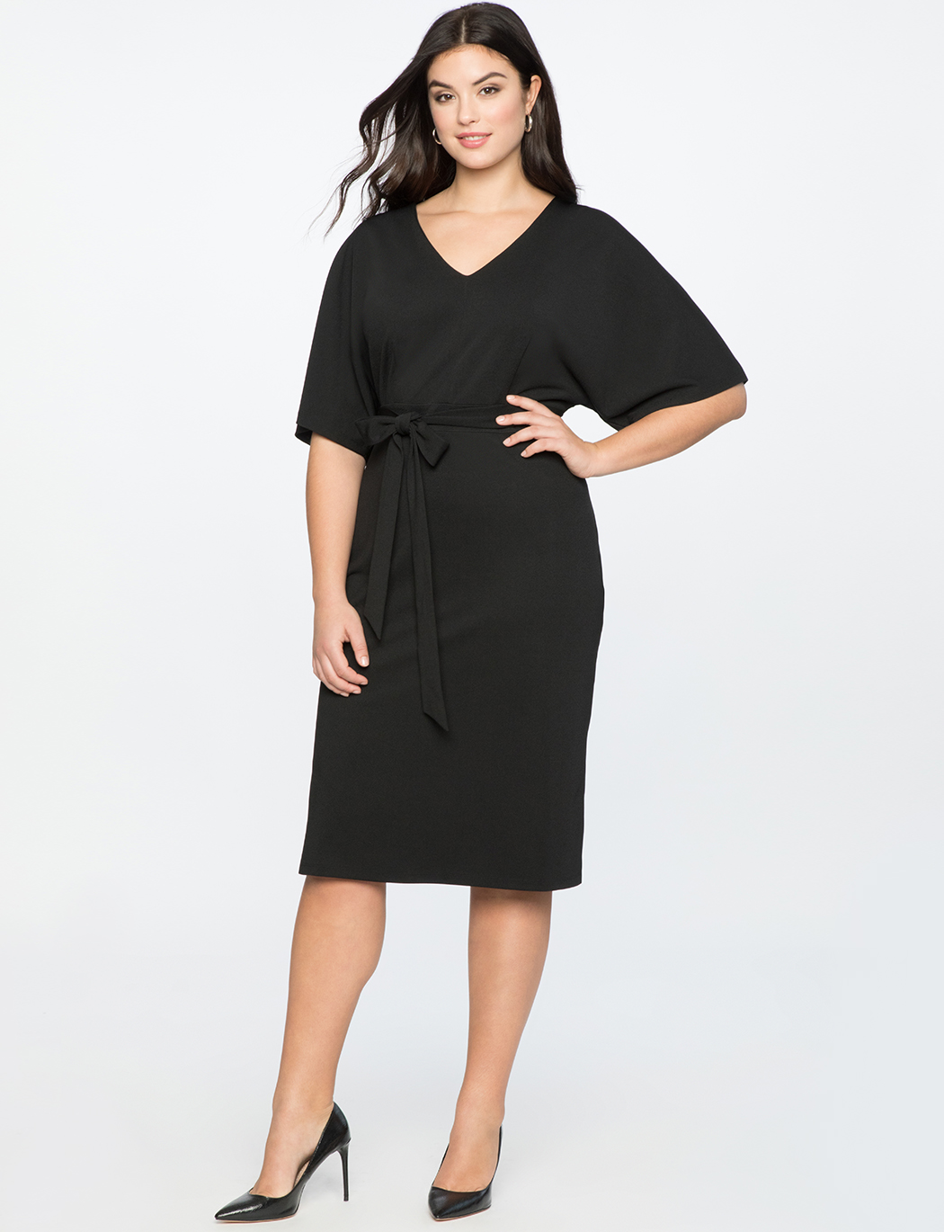 Tie Back Midi Dress with Side Slits