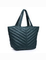 Quilted Tote Bag Green
