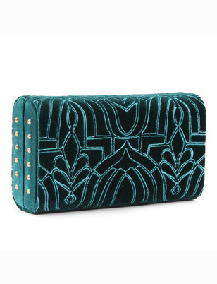Deco Embroidered Minaudiere