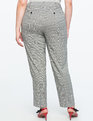 Kady Fit Plaid Pant Black/White Plaid
