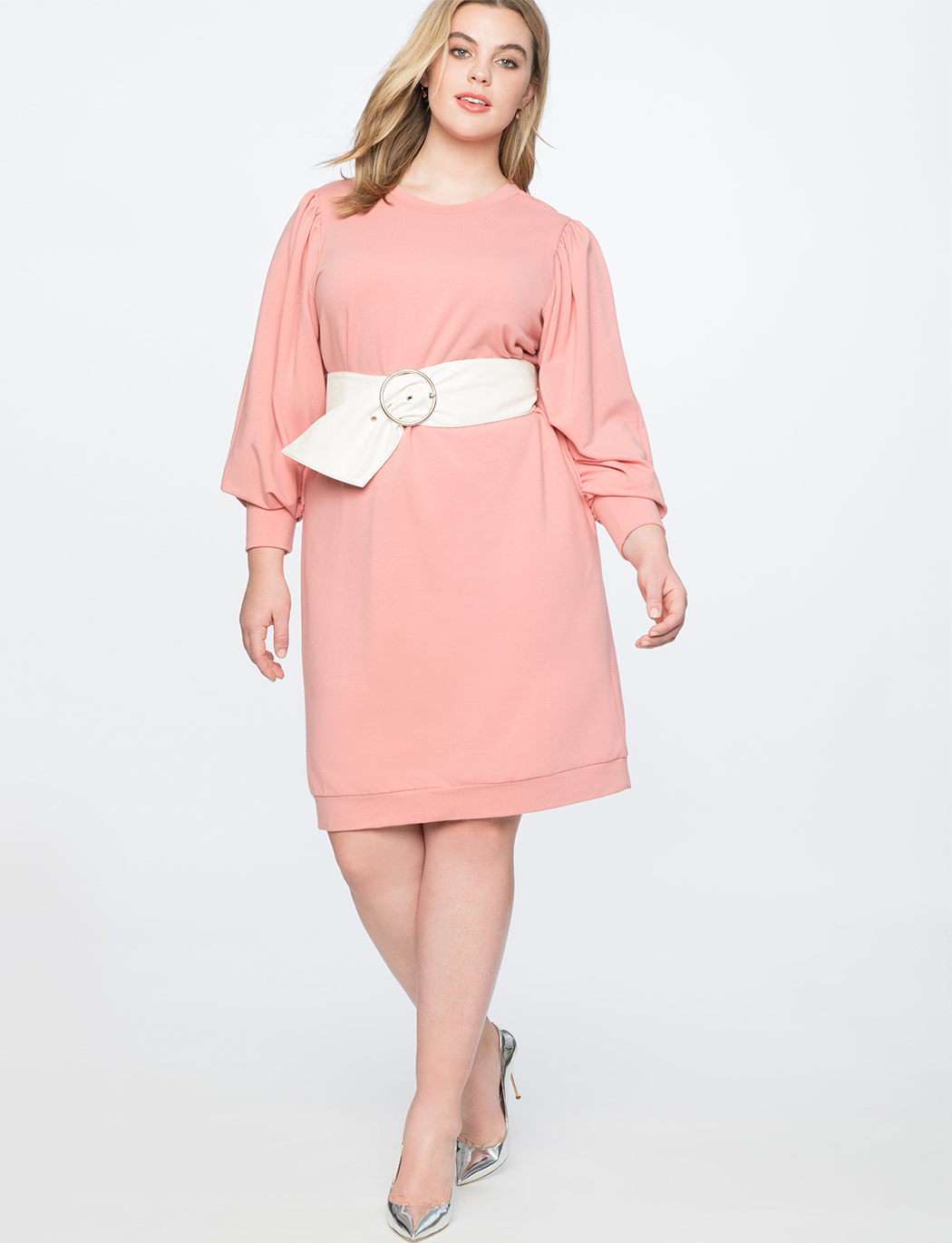 6cce1e5fa2ed Dramatic Puff Sleeve Sweatshirt Dress | Women's Plus Size Dresses ...