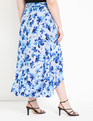 High Low Wrap Skirt with Flounce Wild Things Navy