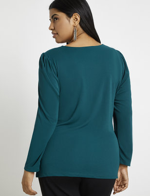 Ruched Front Tie Top