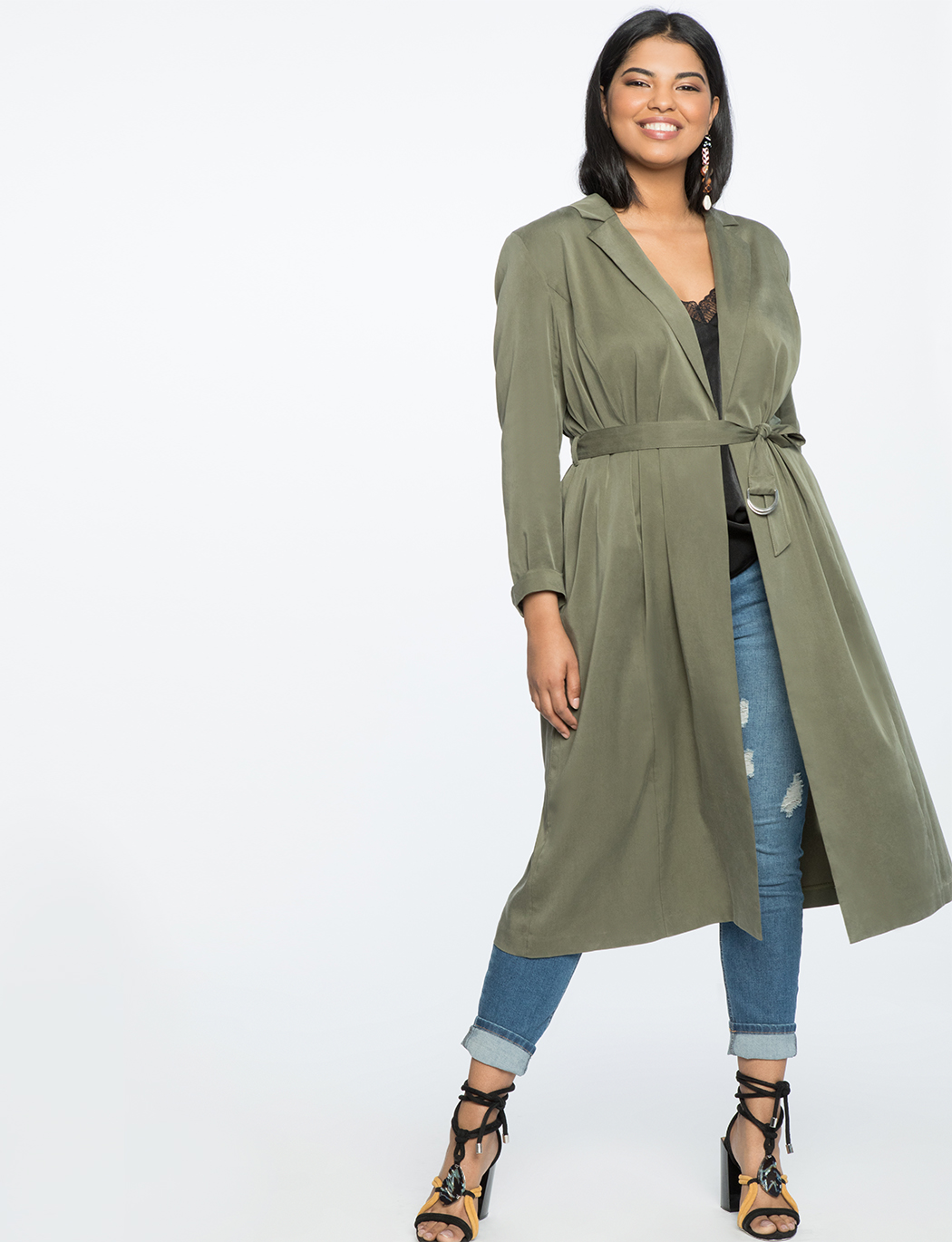 Soft Trench With Belt | Women\'s Plus Size Coats + Jackets | ELOQUII